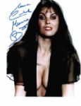 Caroline Munro signed 10 by 8 star of Dracula, Sinbad, Bond #10